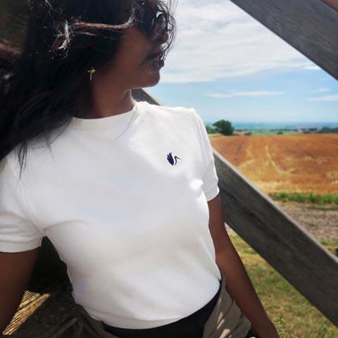 tshirt-femme-blanc- écoresponsable- made-in-France