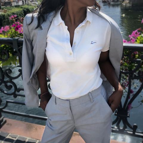 Polo femme blanc sobo, écoresponsable et made in France