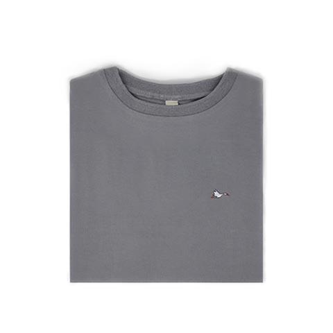 T-shirt homme gris sobo, écoresponsable et made in France. En piqué de coton bio