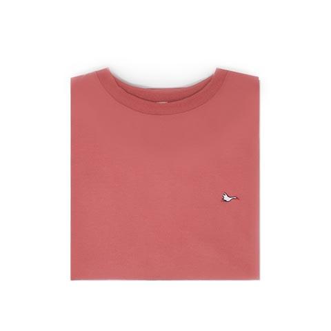 T-shirt homme rose sobo, écoresponsable et made in France. En piqué de coton bio