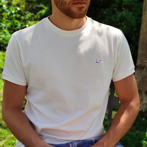 T-shirt coton bio, écoresponsable et made in France. En piqué de coton bio