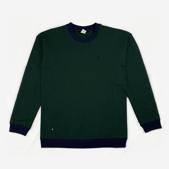 Sweat vert Renaissance, ecoresponsable made in France SOBO